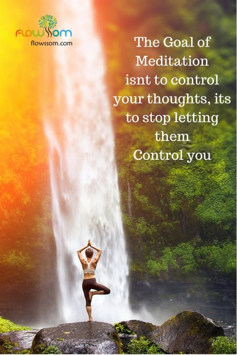 what is meditation, its not to control your thoughts