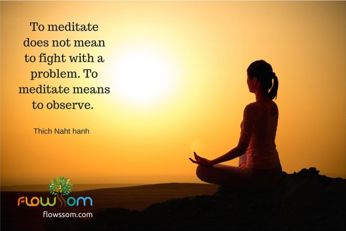 what is meditation by thich naht hanh - its to observes